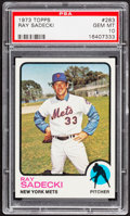Baseball Cards:Singles (1970-Now), 1973 Topps Ray Sadecki #283 PSA Gem Mint 10 - Pop Four....