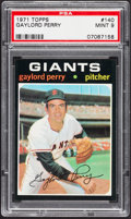 Baseball Cards:Singles (1970-Now), 1971 Topps Gaylord Perry #140 PSA Mint 9....