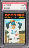 Baseball Cards:Singles (1970-Now), 1971 Topps Bill Singer #145 PSA Mint 9....