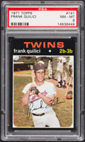 Baseball Cards:Singles (1970-Now), 1971 Topps Frank Quilici #141 PSA NM-MT 8....