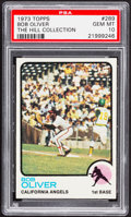 Baseball Cards:Singles (1970-Now), 1973 Topps Bob Oliver #289 PSA Gem Mint 10 - Pop Two....
