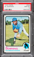 Baseball Cards:Singles (1970-Now), 1973 Topps Al Downing #324 PSA Gem Mint 10 - Pop Two....