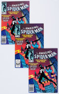 Modern Age (1980-Present):Superhero, The Amazing Spider-Man #252 Group of 3 Signed Copies (Marvel, 1984)Condition: Average FN+.... (Total: 3 Comic Books)