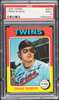 Baseball Cards:Singles (1970-Now), 1975 Topps Craig Kusick #297 PSA Mint 9....