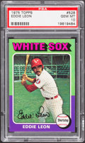 Baseball Cards:Singles (1970-Now), 1975 Topps Eddie Leon #528 PSA Gem Mint 10....