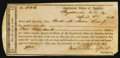 Confederate Notes:Group Lots, Interim Depository Receipt Fayetteville, NC- $100 April 1, 1864Tremmell NC-53.. ...