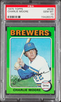 Baseball Cards:Singles (1970-Now), 1975 Topps Charlie Moore #636 PSA Gem Mint 10....