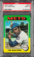 Baseball Cards:Singles (1970-Now), 1975 Topps Ted Martinez #637 PSA Mint 9....