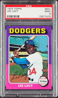 Baseball Cards:Singles (1970-Now), 1975 Topps Lee Lacy #631 PSA Mint 9....