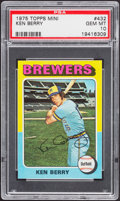 Baseball Cards:Singles (1970-Now), 1975 Topps Mini Ken Berry #432 PSA Gem Mint 10....