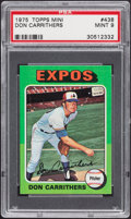 Baseball Cards:Singles (1970-Now), 1975 Topps Mini Don Carrithers #438 PSA Mint 9....