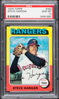 Baseball Cards:Singles (1970-Now), 1975 Topps Steve Hargan #362 PSA Gem Mint 10 - Pop Two....