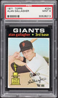 Baseball Cards:Singles (1970-Now), 1971 Topps Alan Gallagher #224 PSA Mint 9....