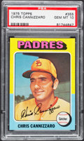 Baseball Cards:Singles (1970-Now), 1975 Topps Chris Cannizzaro #355 PSA Gem Mint 10....