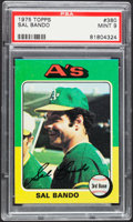 Baseball Cards:Singles (1970-Now), 1975 Topps Sal Bando #380 PSA Mint 9....