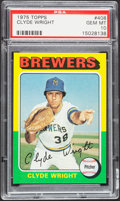Baseball Cards:Singles (1970-Now), 1975 Topps Clyde Wright #408 PSA Gem Mint 10....