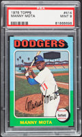 Baseball Cards:Singles (1970-Now), 1975 Topps Manny Mota #414 PSA Mint 9....