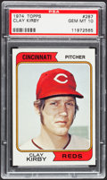 Baseball Cards:Singles (1970-Now), 1974 Topps Clay Kirby #287 PSA Gem Mint 10....