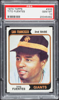 Baseball Cards:Singles (1970-Now), 1974 Topps Tito Fuentes #305 PSA Gem Mint 10 - Pop Two....