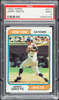 Baseball Cards:Singles (1970-Now), 1974 Topps Jerry Grote #311 PSA Mint 9....