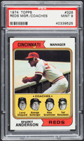 Baseball Cards:Singles (1970-Now), 1974 Topps Reds Mgr./Coaches #326 PSA Mint 9....