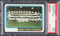 Baseball Cards:Singles (1970-Now), 1974 Topps Yankees Team #363 PSA Mint 9....