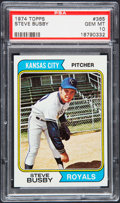 Baseball Cards:Singles (1970-Now), 1974 Topps Steve Busby #365 PSA Gem Mint 10....