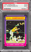 Baseball Cards:Singles (1970-Now), 1975 Topps Mini A.L. Championships #459 PSA Mint 9....
