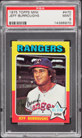 Baseball Cards:Singles (1970-Now), 1975 Topps Mini Jeff Burroughs #470 PSA Mint 9....