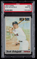 Baseball Cards:Singles (1970-Now), 1970 Topps Dick Schofield #251 PSA Gem Mint 10 - Pop Two....