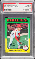 Baseball Cards:Singles (1970-Now), 1975 Topps Mini Wayne Twitchell #326 PSA NM-MT 8....