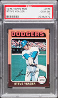 Baseball Cards:Singles (1970-Now), 1975 Topps Mini Steve Yeager #376 PSA Gem Mint 10 - Pop Two....