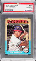 Baseball Cards:Singles (1970-Now), 1975 Topps Mini Jim Spencer #387 PSA Gem Mint 10....