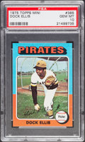 Baseball Cards:Singles (1970-Now), 1975 Topps Mini Dock Ellis #385 PSA Gem Mint 10....
