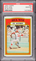 Baseball Cards:Singles (1970-Now), 1972 Topps Rick Wise IA #44 PSA Gem Mint 10....
