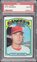 Baseball Cards:Singles (1970-Now), 1972 Topps Pete Broberg #64 PSA Gem Mint 10....