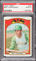 Baseball Cards:Singles (1970-Now), 1972 Topps Bert Campaneris #75 PSA Mint 9....