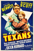 "Movie Posters:Western, The Texans (Paramount, 1938). One Sheet (27.5"" X 41"").. ..."