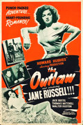 "Movie Posters:Western, The Outlaw (United Artists, 1946). Poster (40"" X 60"") Style B.. ..."