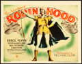 "Movie Posters:Swashbuckler, The Adventures of Robin Hood (Warner Brothers, 1938). Linen FinishTitle Lobby Card (11"" X 14"").. ..."