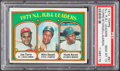 Baseball Cards:Singles (1970-Now), 1972 Topps NL R.B.I. Leaders #87 PSA Gem Mint 10....