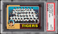 Baseball Cards:Singles (1970-Now), 1975 Topps Mini Tigers Team #18 PSA Mint 9....