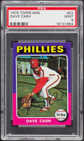 Baseball Cards:Singles (1970-Now), 1975 Topps Mini Dave Cash #22 PSA Mint 9....