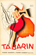 "Movie Posters:Miscellaneous, Tabarin by Paul Colin (Paris, 1928) Poster (15.75"" X 23.75"").. ..."