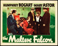"Movie Posters:Film Noir, The Maltese Falcon (Warner Brothers, 1941). Lobby Card (11"" X14"").. ..."
