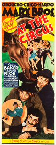 "Movie Posters:Comedy, At the Circus (MGM, 1939). Insert (14"" X 36"").. ..."
