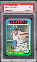 Baseball Cards:Singles (1970-Now), 1975 Topps Mini Andy Thornton #39 PSA Mint 9....