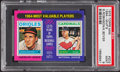 Baseball Cards:Singles (1970-Now), 1975 Topps Mini 1964 MVP's Robinson/Boyer #202 PSA Mint 9....