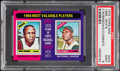 Baseball Cards:Singles (1970-Now), 1975 Topps Mini 1966-MVP's Robinson/Clemente #204 PSA Mint 9....