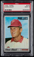 Baseball Cards:Singles (1970-Now), 1970 Topps Chris Short #270 PSA Mint 9....